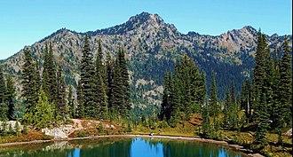 Chinook Peak - Chinook Peak seen from Pacific Crest Trail below Naches Peak