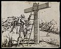 Christ carries the bodily remains of the dead up a ladder Wellcome L0075419.jpg