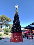 Christmas tree at Melbourne Airport in January 2019.jpg