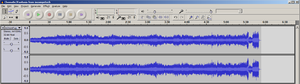 Audacity screenshot of Chromatic Fuge (Bach BW...