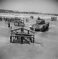Churchill tank at exercices towing an Element C from the sea - IWM H38090 - 19440501.jpg