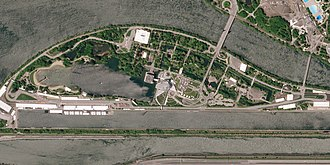 Circuit Gilles Villeneuve - Satellite picture of the circuit, taken in May 2018