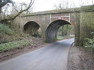 Cirencester branch line - Cirencester branch bridge - to the left was another bridge which carried the railway over the Thames & Severn Canal. geograph.org.uk - 1208801