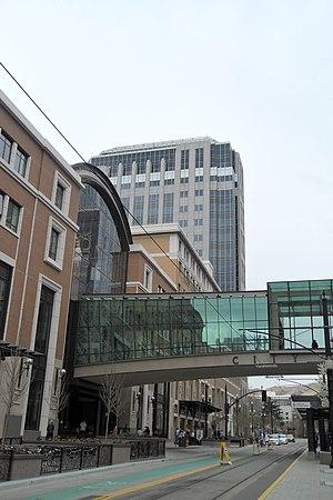 City Creek Center - City Creek Center from Main Street with the skybridge