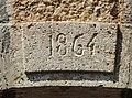 Clé de linteau, datée de 1864 . Courchaton.jpg