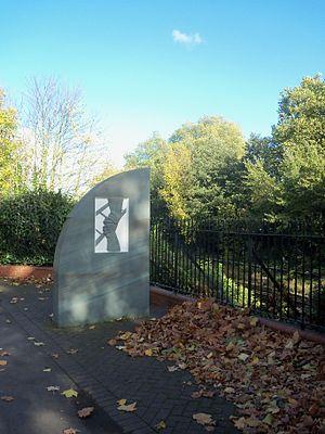 Clapham Junction rail crash - Memorial at the site of the crash, 2012
