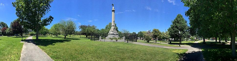 Clasky Common Park panorama, New Bedford, Massachusetts