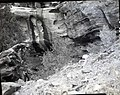 Cliff where visitor fell and was killed on October 10, 1965, just north at first drainage in cliff above Watchman Residential (bf8583bc8dd0454c81ec23b17e9e45c2).jpg