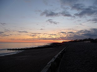 Climping beach at sunset