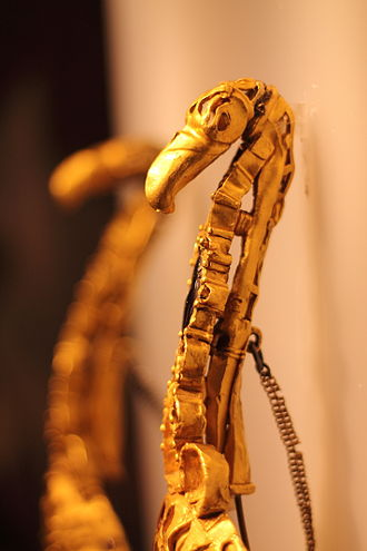 Pietroasele Treasure - Eagle-shaped middle fibulae, worn in pairs by gothic women