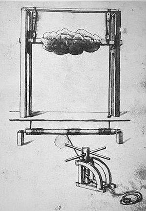 Nicola Sabbatini - Sabbatini's design for a stage machine imitating moving clouds in the set, 1638.