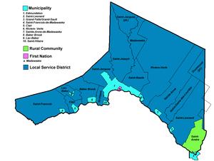 Republic of Madawaska - Municipalities of Madawaska County