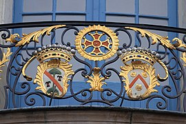 Coats of arms, balcony of Capitole of Toulouse 17.JPG