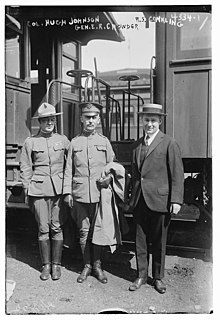 johnson and enoch crowder and roscoe s conkling at camp upton in 1917