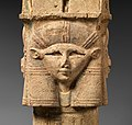 Column with Hathor-emblem capital and names of Nectanebo I on the shaft MET DP321625.jpg