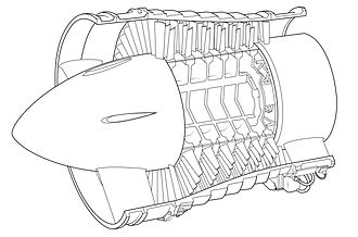 Axial compressor - Low-pressure axial compressor scheme of the Olympus BOl.1 turbojet.