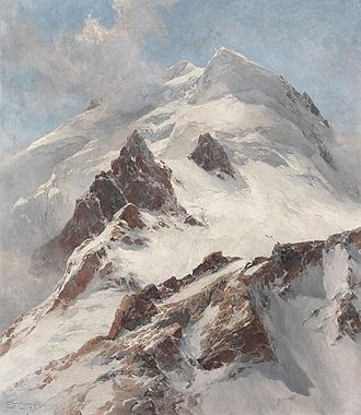 Edward Theodore Compton - Piz Morteratsch, view from Fuorcla Boval on the northern flank (1914)