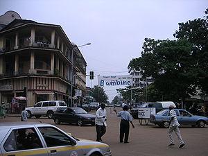 Conakry - A street scene in Conakry.
