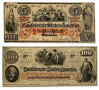 Confederate 5 and 100 Dollars.jpg