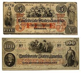 Image Ilrative De L Article Dollar Des États Confédérés D Amérique