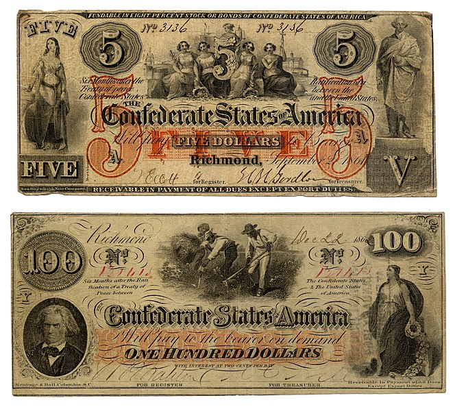 File:Confederate 5 and 100 Dollars.jpg