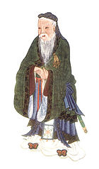 Confucius, illustrated in Myths & Legends of China, 1922, by E.T.C. Werner.