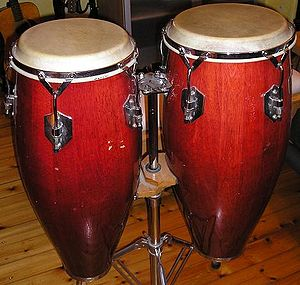 A pair of congas