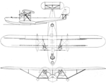Consolidated XPY-1 3-view Aero Digest February 1929.png