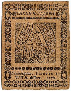Continental Currency $3 banknote reverse (May 9, 1776).jpg