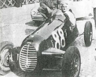 Cisitalia - Ilario Bandini driving with Cisitalia D46 in 1947.