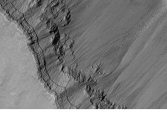 Coprates quadrangle - Image: Coprates layers