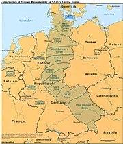 Corps sectors in NATO's Central Region