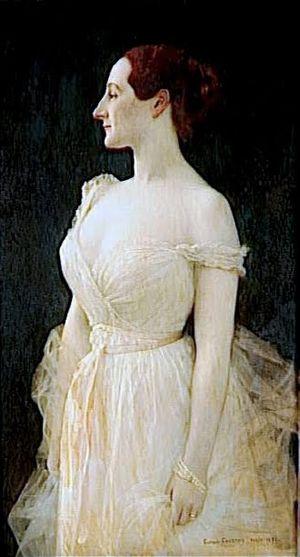 Gustave-Claude-Etienne Courtois - Gustave Courtois, Madame Gautreau, 1891 (compare to John Singer Sargent's 1884 Portrait of Madame X)
