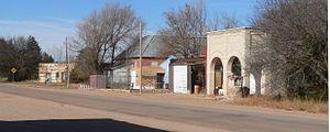 Cowles, Nebraska - Main Street in Cowles