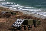 Crews of the coastal missile system Bal of the Pacific Fleet perform training firings 01.jpg