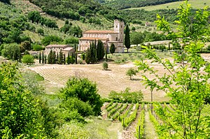 Abbey of Sant'Antimo - Crops at the Abbey of Sant'Antimo