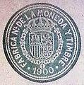 Cuño de la fabrica nacional de la moneda y timbre de 1900 lorcha Alicante.jpg