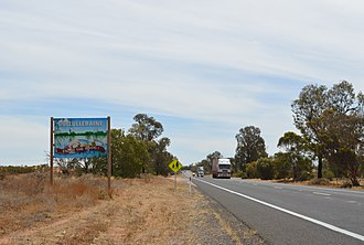 Cullulleraine - Sturt Highway passing through Cullulleraine