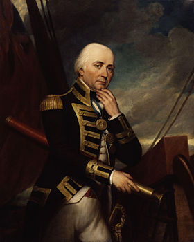 Cuthbert Collingwood, peinture de Henry Howard au Greenwich Hospital