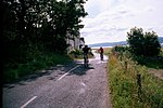 Cycling round Arran at Imachar. Quiet road on west of Arran