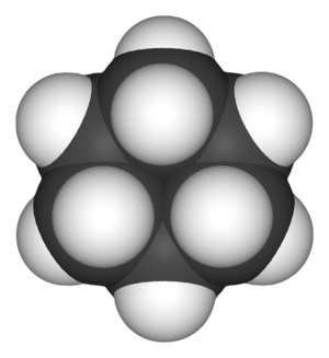 Cyclohexane - Image: Cyclohexane 3D space filling