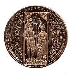 Medallion commemorating the Henneberg tomb