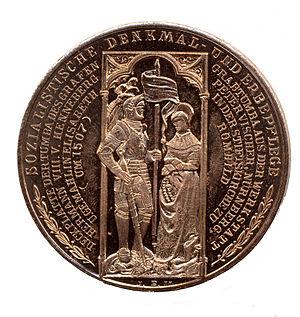 Römhild - Medallion commemorating the Henneberg tomb