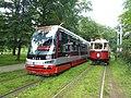 DPP tram line 17 and 91 at Výstaviště Holešovice.jpg