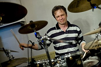 English: Drummer - Producer Gunnar Waage