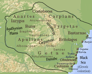 Outline of the Dacian Kingdom at its greatest extent