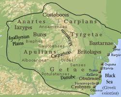 Дакия во время правления Буребисты, 82 г. до н. Э.