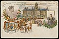 Dam met Koninklijk Paleis en Naatje van de Dam ter gelegenheid van het kroningsjaar van H.M. Koningin Wilhelmina, Afb PBKD00385000001.jpg