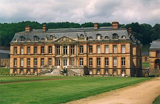 Mansard roof - A mansard roof on the Château de Dampierre, by Jules Hardouin-Mansart, great-nephew of François Mansart