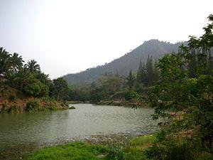Singkhon Pass - Lake by Singkhon Pass border post.